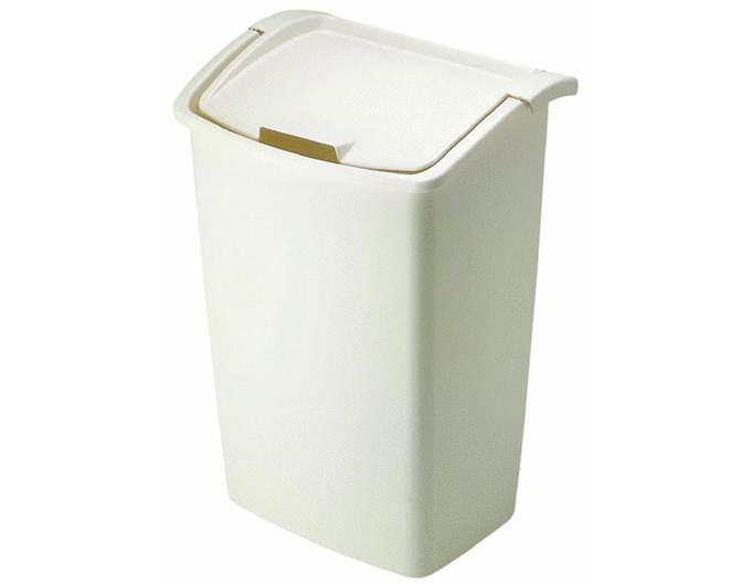 Rubbermaid 45 quart dual action wastebasket cool tools - Cool wastebaskets ...