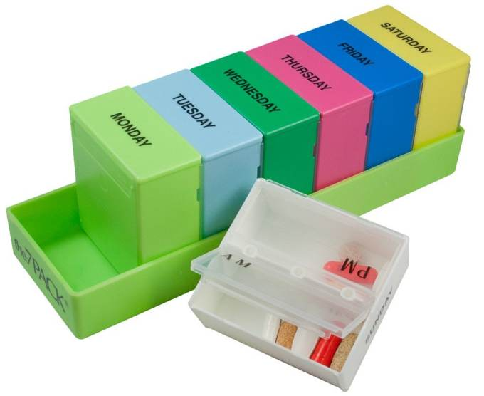 Deep compartments hold more medication  sc 1 st  Kevin Kelly & Pill Box Organizer | Cool Tools Aboutintivar.Com