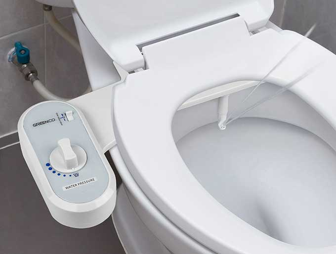 Non electric bidet toilet seat attachment cool tools - Japanese toilet bidet combination ...