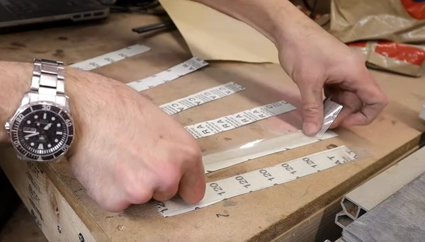 Making your own bendy sanding strips for those hard-to-reach places.