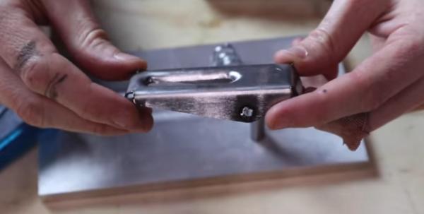 A complex part bent into shape using 3D-printed dies.
