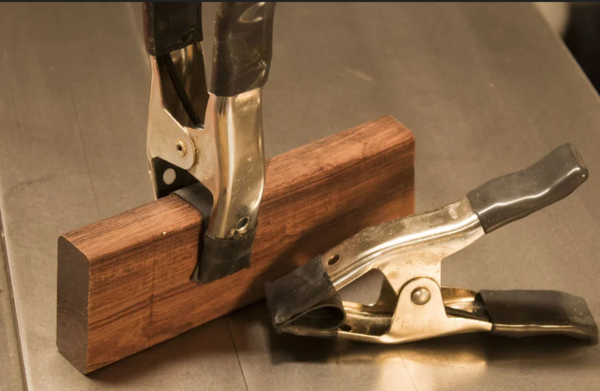 Turning spring clamps into bendy clamps.