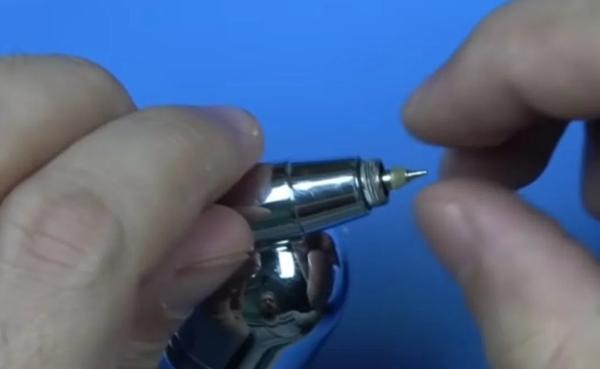 Crappy brush? Try polishing the needle.