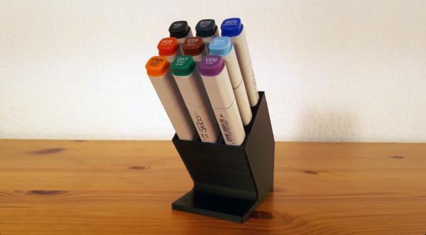 3D printable custom pen holders.