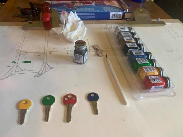 It only takes a few seconds to color-code your keys.