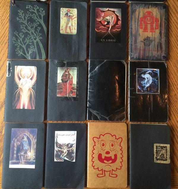 Some of my pocket notebooks from over the years.