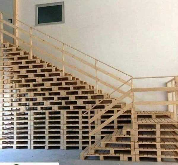 """The street finds its own uses for things."" -William Gibson. Pallet stairs."