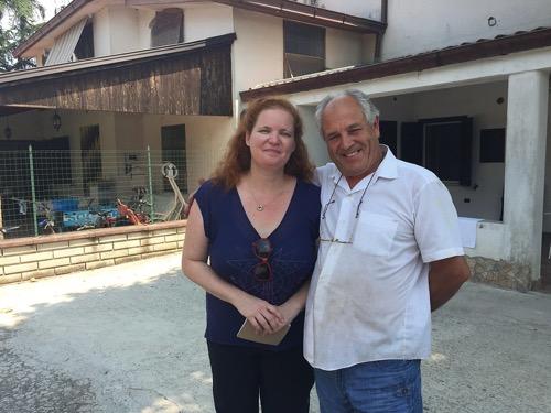Rusty Blazenhoff and her Italian cousin Giuseppe Petrucci in Vignarola, outside of San Giovanni Incarico, Italy (2015) photo by Carolyn Anhalt
