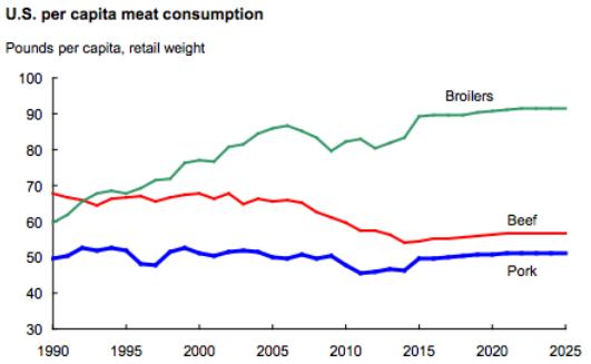 USDA-meat-consumption-1990-2025