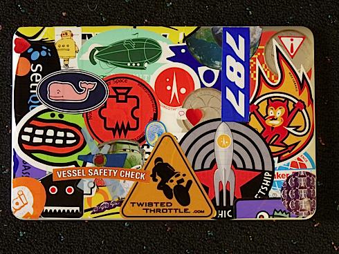 Stickered laptop Snow Leopard Pinterest Laptops